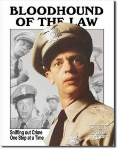 bloodhound of the law tin sign