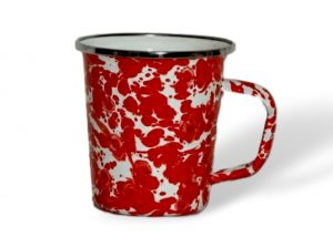 Red swirl latte mug