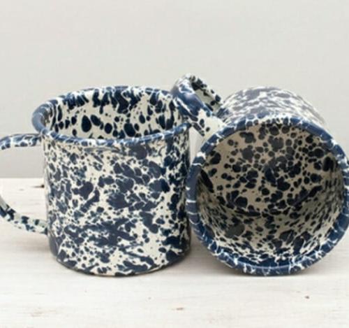 Enamel mug 12 oz. splatterware marbled mug