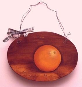 Orange Delight painted wood