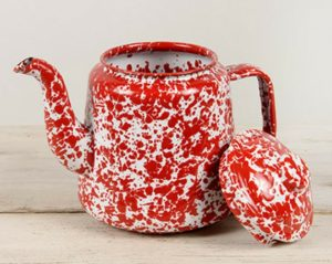 Enamelware Tea Pot Marbled