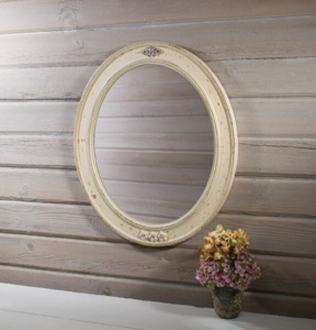 Vintage style oval mirror