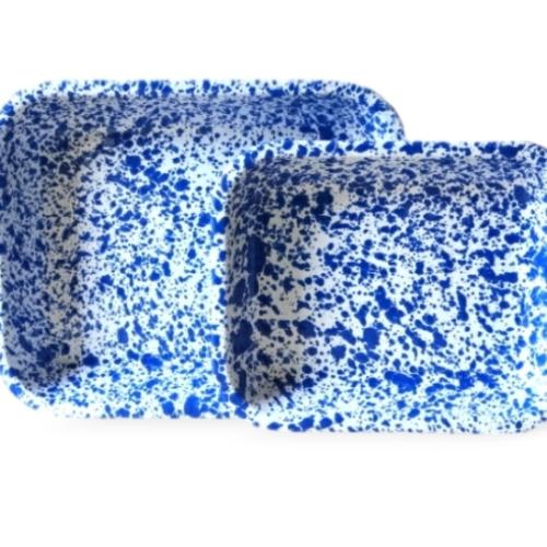 Splatterware roasters large and small