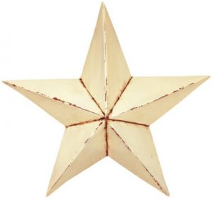 Antique white barn star