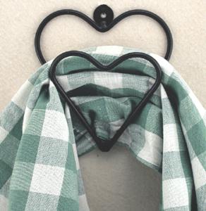 Swag hook double heart shape
