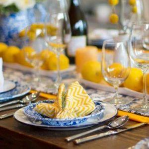 Splatterware blue raised salad plate