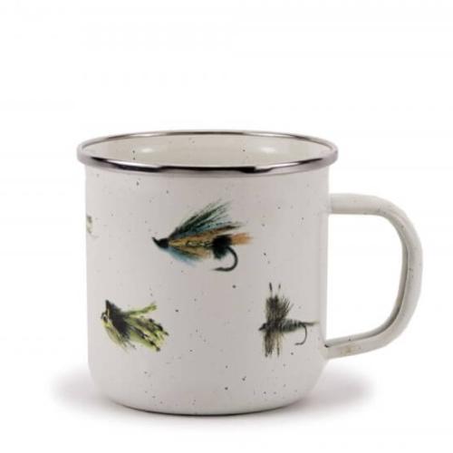 Enamelware fly fishing mug
