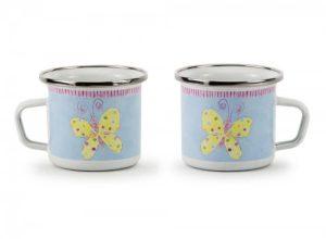 Butterfly enamel child's mug