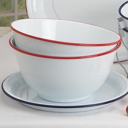 Large salad bowl vintage white