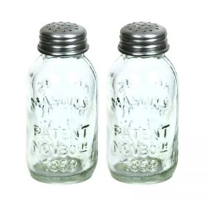 Mason salt and pepper shakers