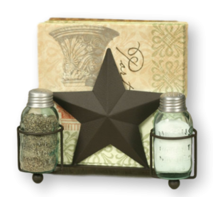 Star salt & pepper and napkin holder