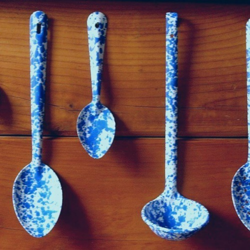 Six inch enamel spoon