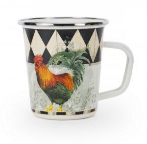 Rooster enamel mug